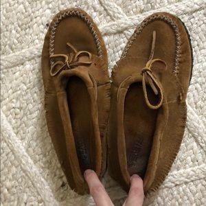 Eastland brown suede moccasins size 9!